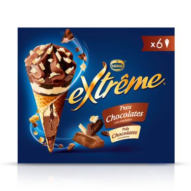 CONO 3 CHOCOLATES 6x120ml
